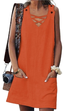 Unbranded Orange Shift Dress - Alternate List Image