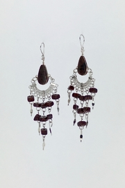 Unbranded Peruvian-Opal Chandelier Earrings-Brown - Product Mini Image
