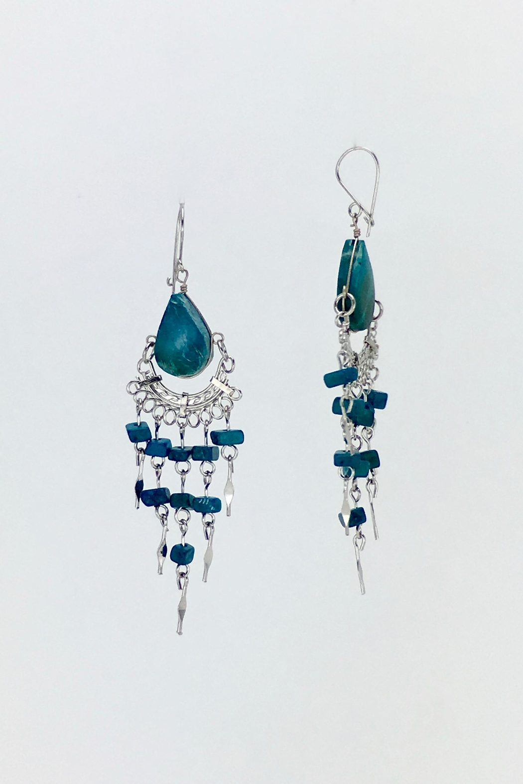 Unbranded Peruvian-Opal Chandelier Earrings-Turquoise - Side Cropped Image
