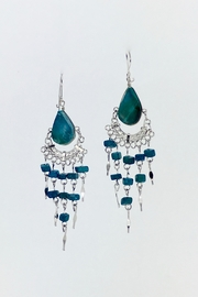 Unbranded Peruvian-Opal Chandelier Earrings-Turquoise - Front cropped