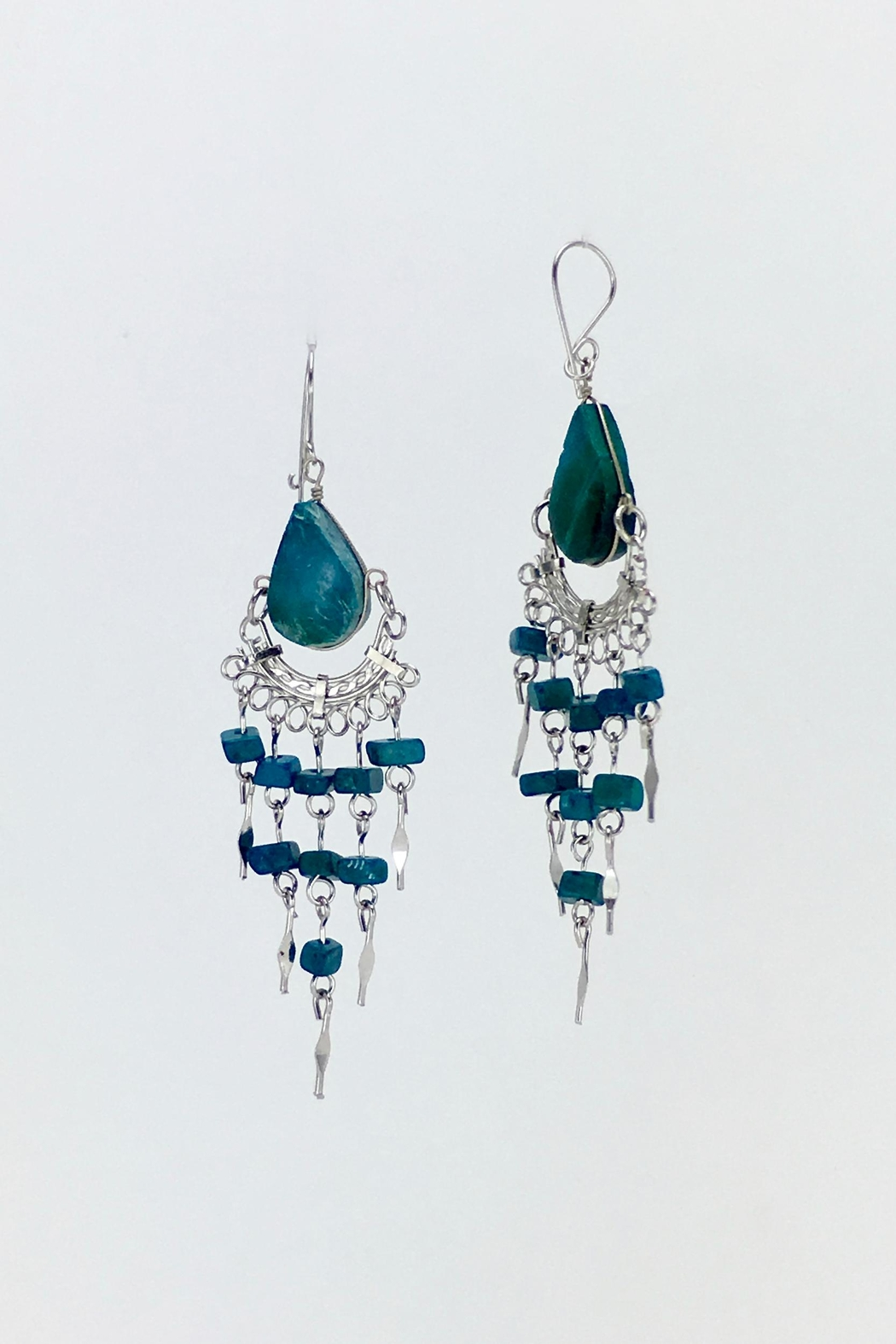 Unbranded Peruvian-Opal Chandelier Earrings-Turquoise - Back Cropped Image