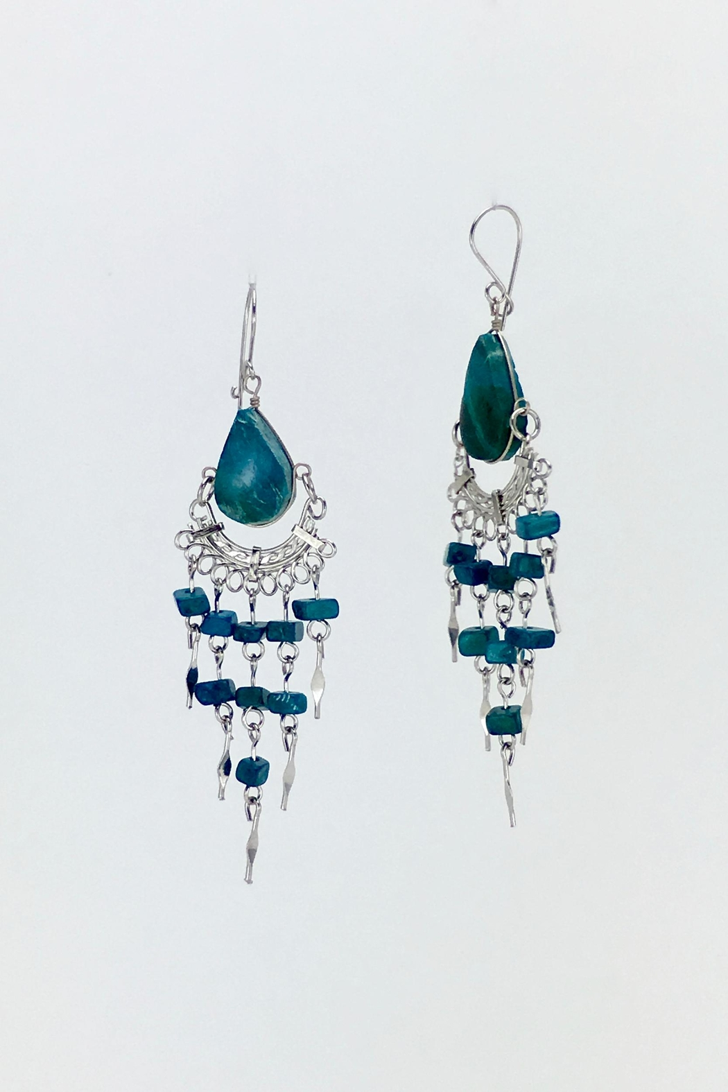 Unbranded Peruvian-Opal Chandelier Earrings-Turquoise - Front Full Image