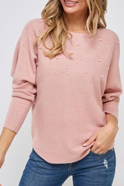 Unbranded Pink Faux-Pearl Sweater - Product Mini Image