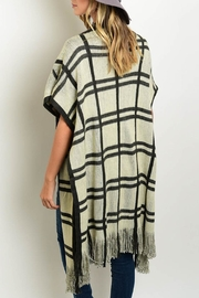 Unbranded Plaid Sleeveless Poncho - Front full body