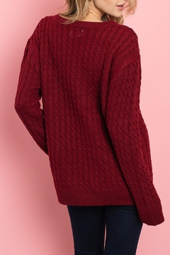 Unbranded Red Cable-Knit Sweater - Alternate List Image