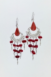 Unbranded Red-Peruvian-Opal Chandelier Earrings - Product Mini Image