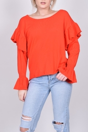 Unbranded Red Ruffle Sweater - Product Mini Image