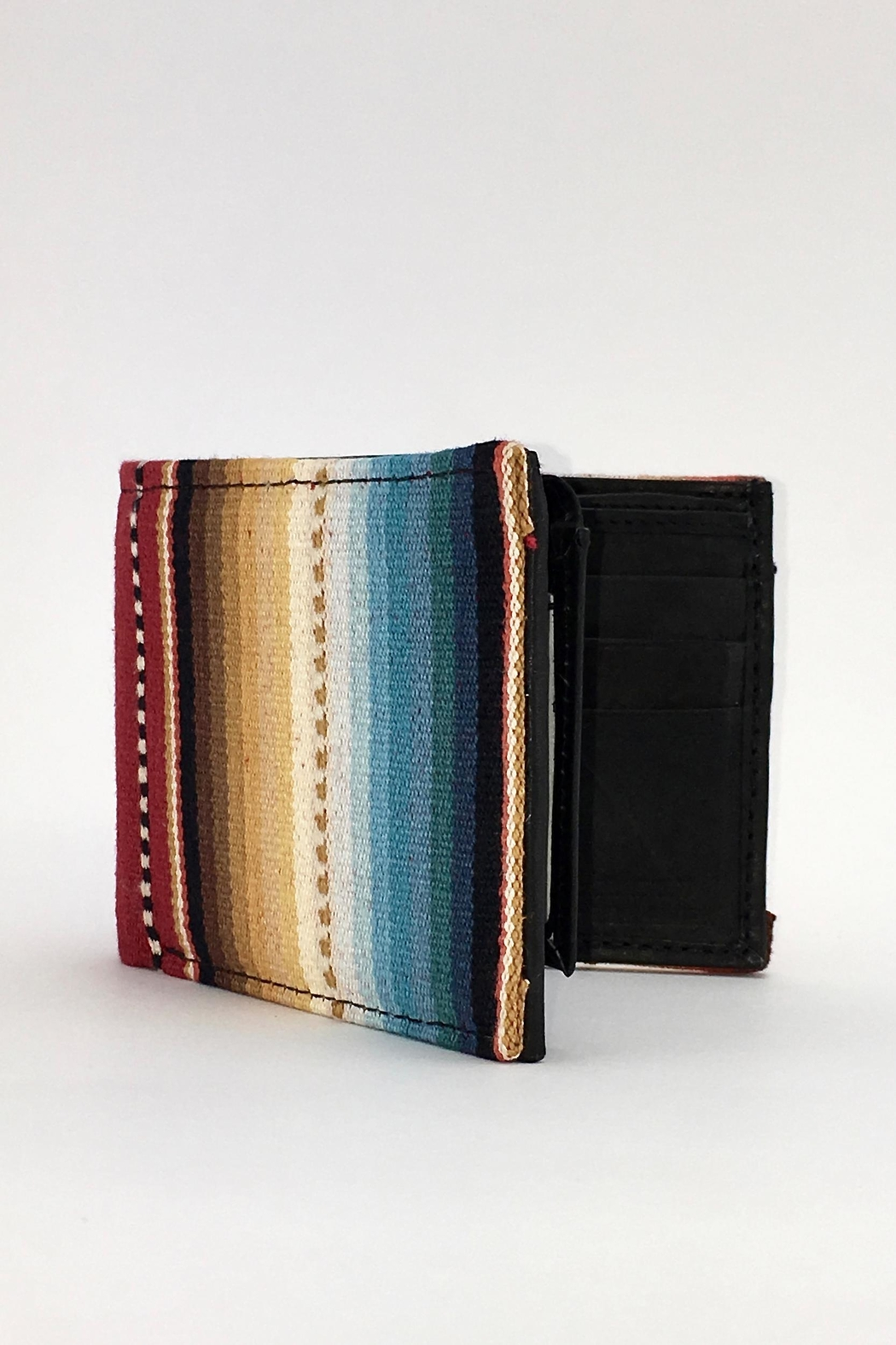 Unbranded Red-Sarape-Woven-Textile Handcrafted Billfold-Wallet - Main Image