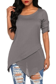 Unbranded Roll-Tab Asymmetric Tunic - Product Mini Image