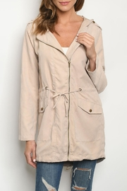 Unbranded Sand Hooded Jacket - Product Mini Image