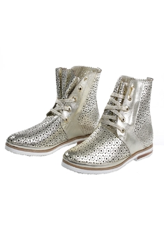 Unbranded Silver Mesh Booties - Alternate List Image