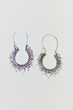 Shoptiques Product: Star Sterling-Silver Hoop-Earrings