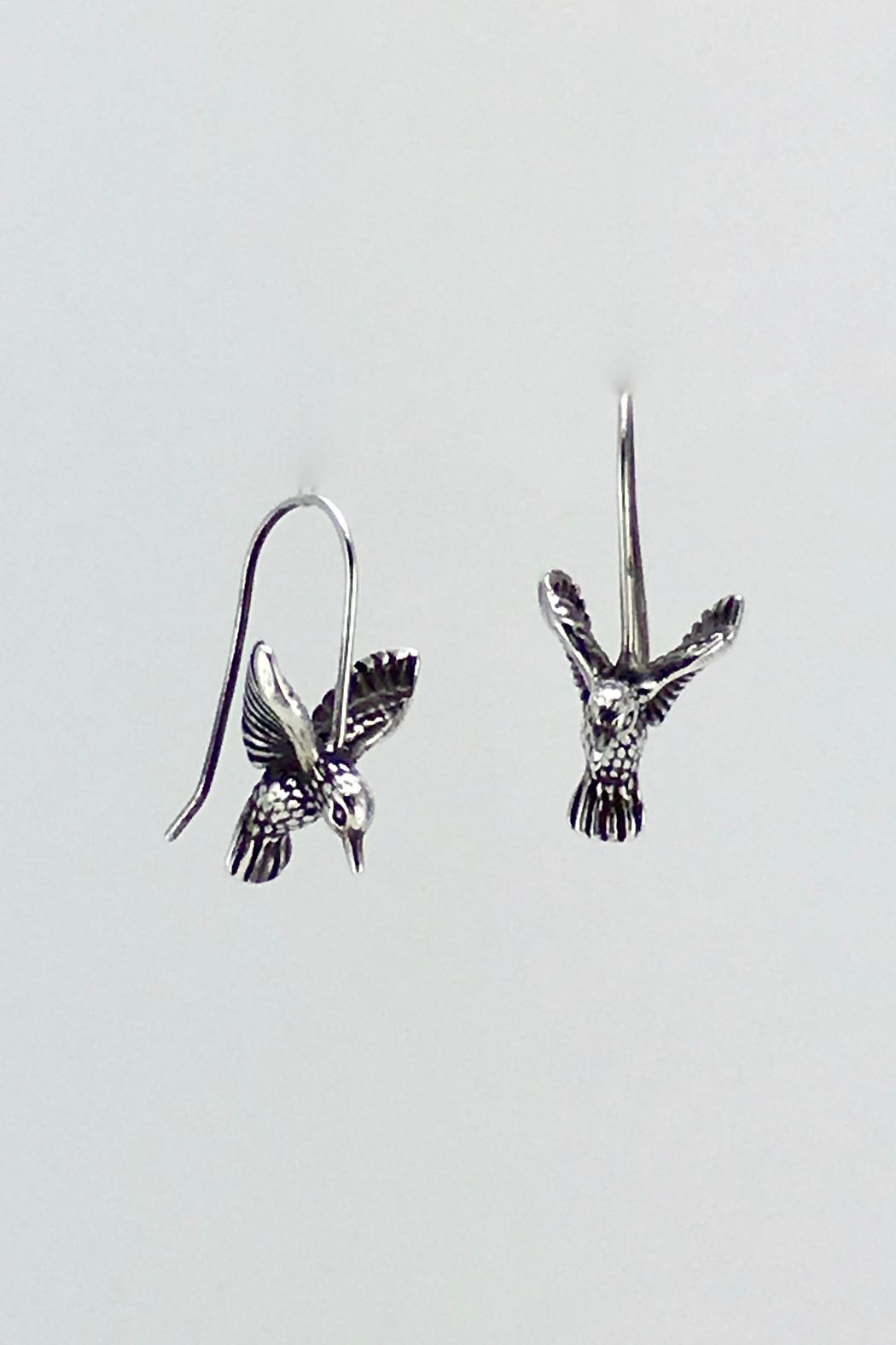 Unbranded Sterling-Silver Hummingbird Earrings - Front Full Image