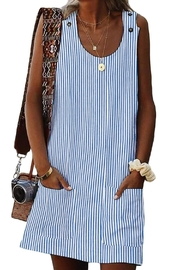 Unbranded Striped Shift Dress - Product Mini Image