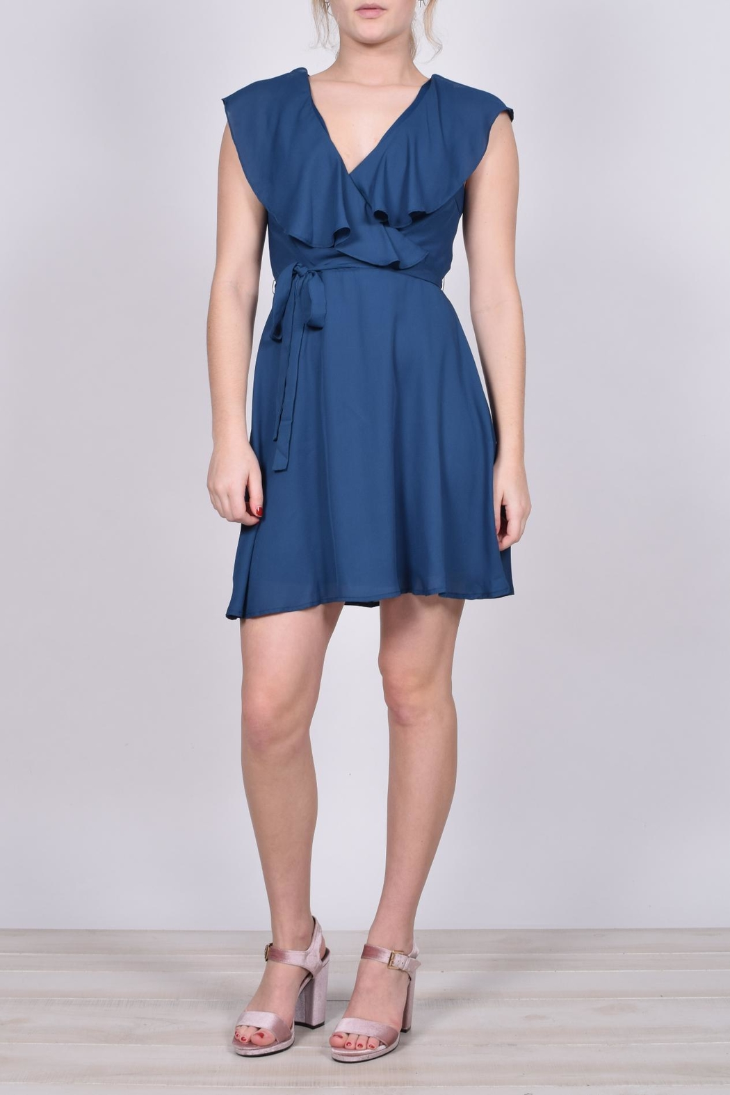 Unbranded Teal Ruffle Dress - Main Image
