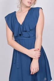 Unbranded Teal Ruffle Dress - Front full body