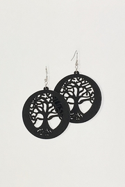 Unbranded Tree-Of-Life Laser-Cut Dagle-Earrings - Product Mini Image