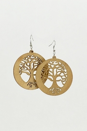 Unbranded Tree-Of-Life Laser-Cut Dangle-Earrings - Product Mini Image
