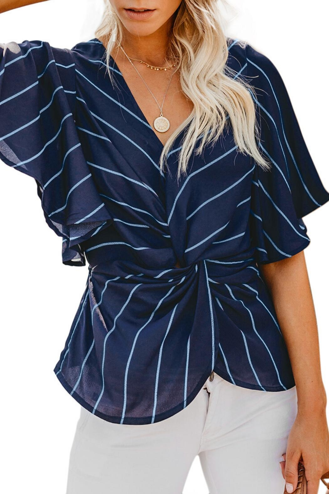 Unbranded Twist Front Blouse - Main Image