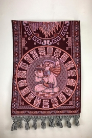 Unbranded Tzolkin-Mayan-Calendar Woven-Textile Rebozo-Shawl - Front full body