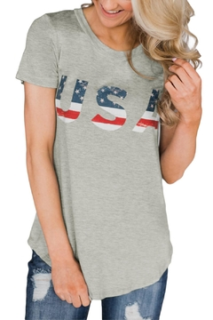 Unbranded Usa Slim Tee - Product List Image