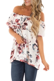 Unbranded White Floral Top - Product Mini Image