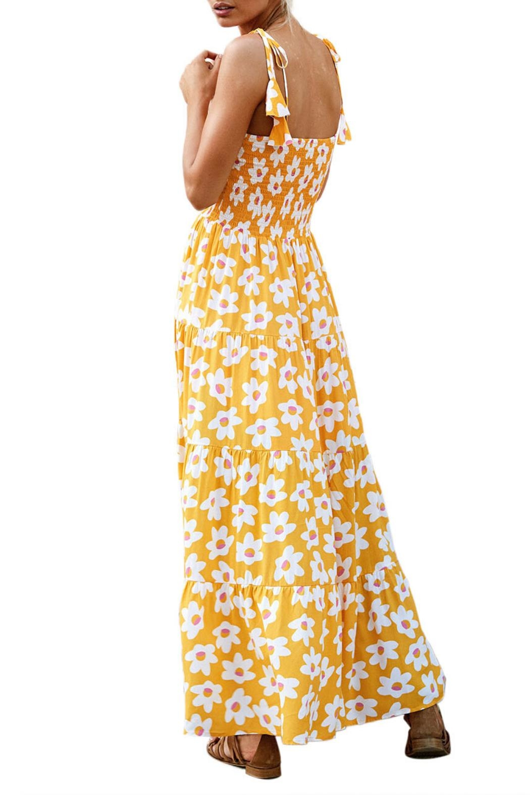 Unbranded Yellow Flower Maxi - Front Full Image