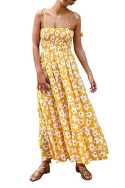 Unbranded Yellow Flower Maxi - Front cropped