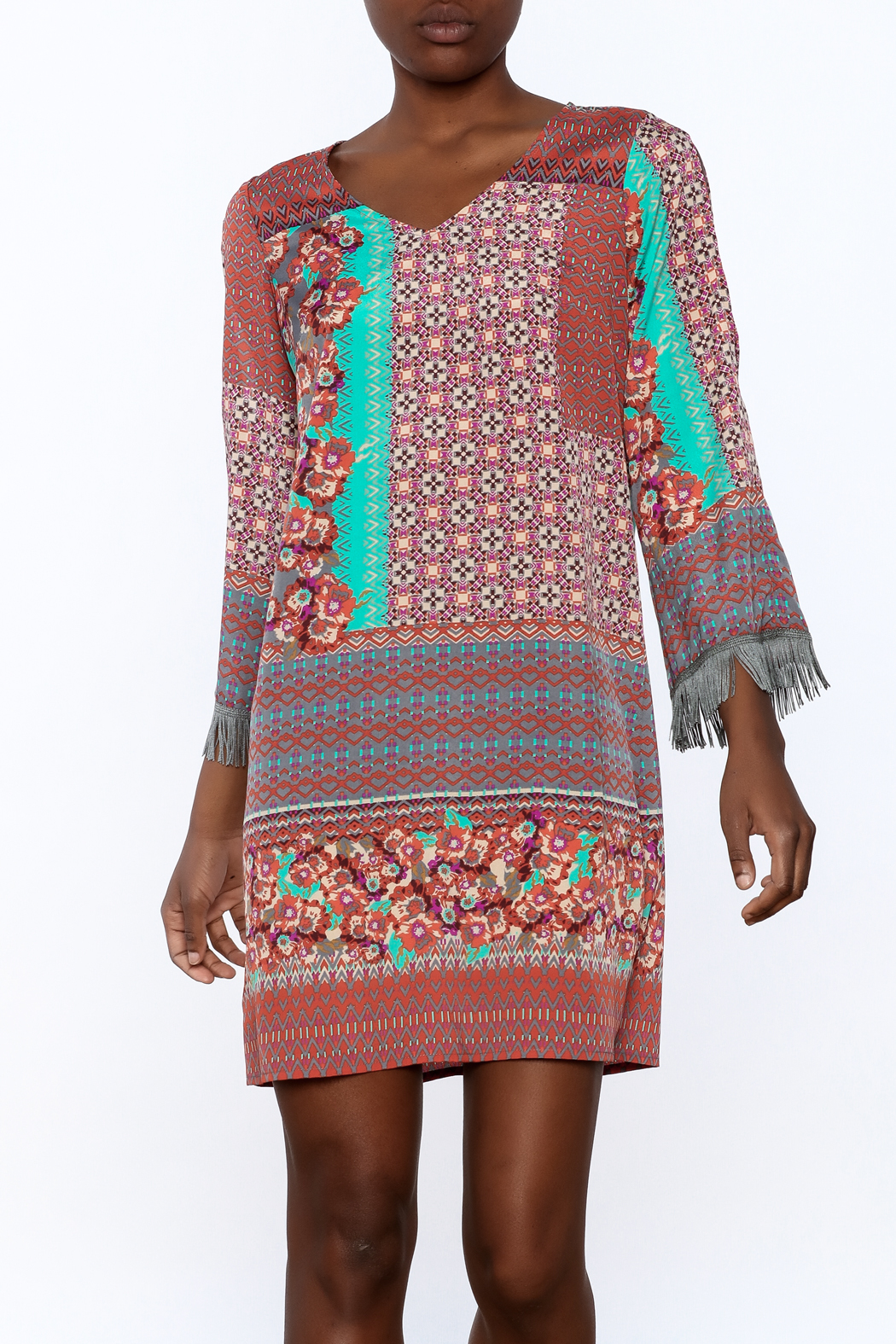 Uncle Frank Anastasia Mix Print Dress - Main Image