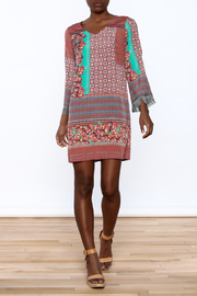 Uncle Frank Anastasia Mix Print Dress - Front full body
