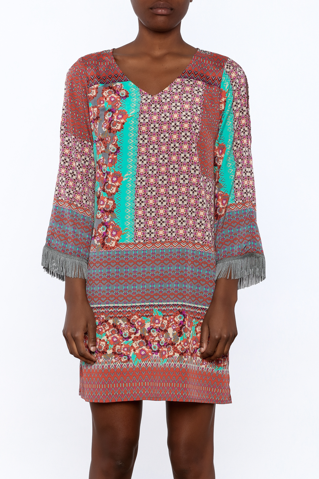 Uncle Frank Anastasia Mix Print Dress - Side Cropped Image