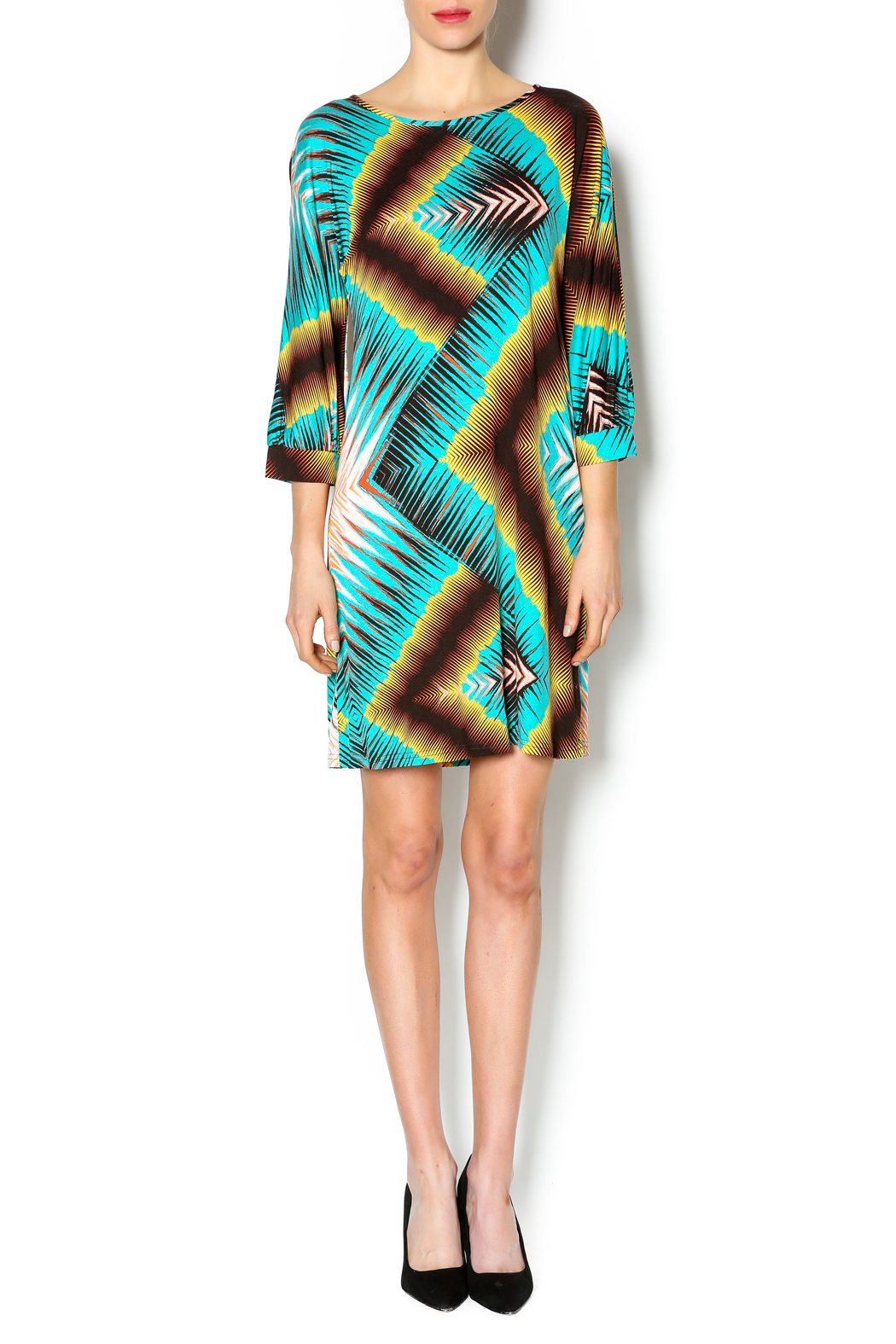 Uncle Frank Dolman Sleeve Dress - Front Full Image