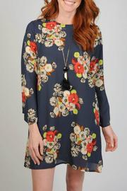 Uncle Frank Blue Floral Dress - Product Mini Image
