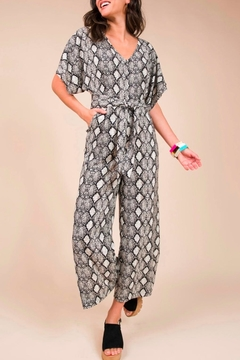 Uncle Frank Cropped Snakeskin Jumpsuit - Product List Image