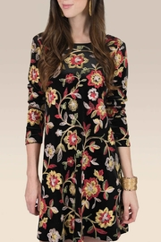 Uncle Frank Floral Velvet Dress - Product Mini Image