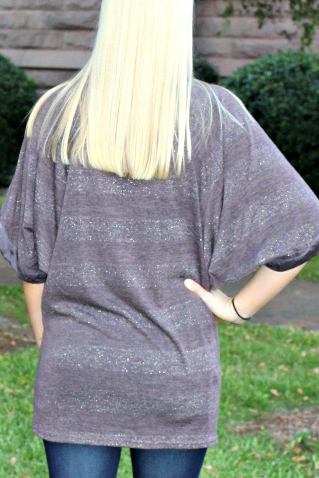 Uncle Frank Sparkly Sweater Tunic - Side Cropped Image