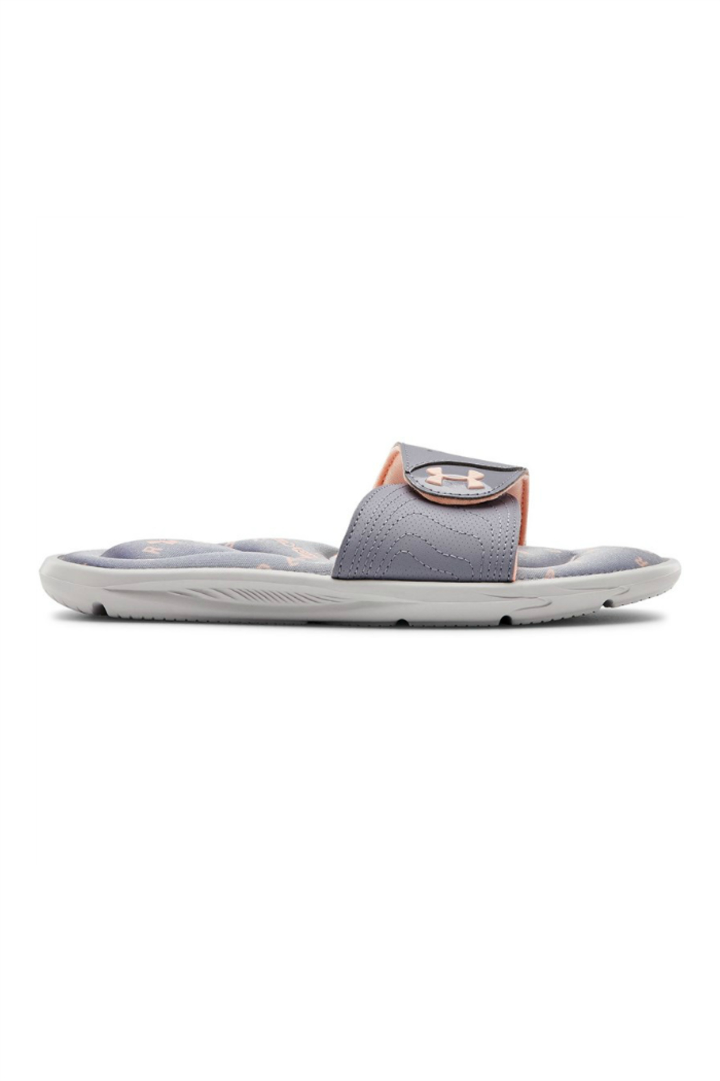 Under Armour Girls Ignite Swerve Slide in Halo Gray - Main Image