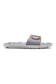 Under Armour Girls Ignite Swerve Slide in Halo Gray - Front cropped