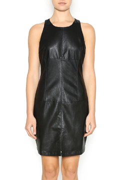 Shoptiques Product: Black Faux Leather Dress