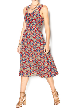 Shoptiques Product: Multi-Colored Printed Mid-Calf Dress