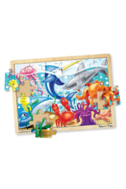 Melissa and Doug Under the Sea Wooden Jigsaw Puzzle 24pc - Product Mini Image