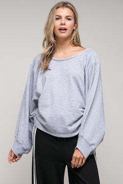 Shoptiques Product: Unfinished Collar Sweatshirt