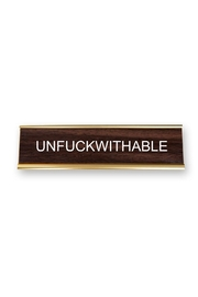 He Said, She Said Unfuckwithable Nameplate - Product Mini Image