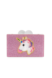 Bari Lynn Unicorn Acylic Box Clutch Bag - Product Mini Image