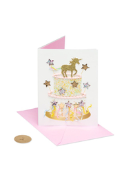 Papyrus Unicorn Cake Birthday Card - Front cropped