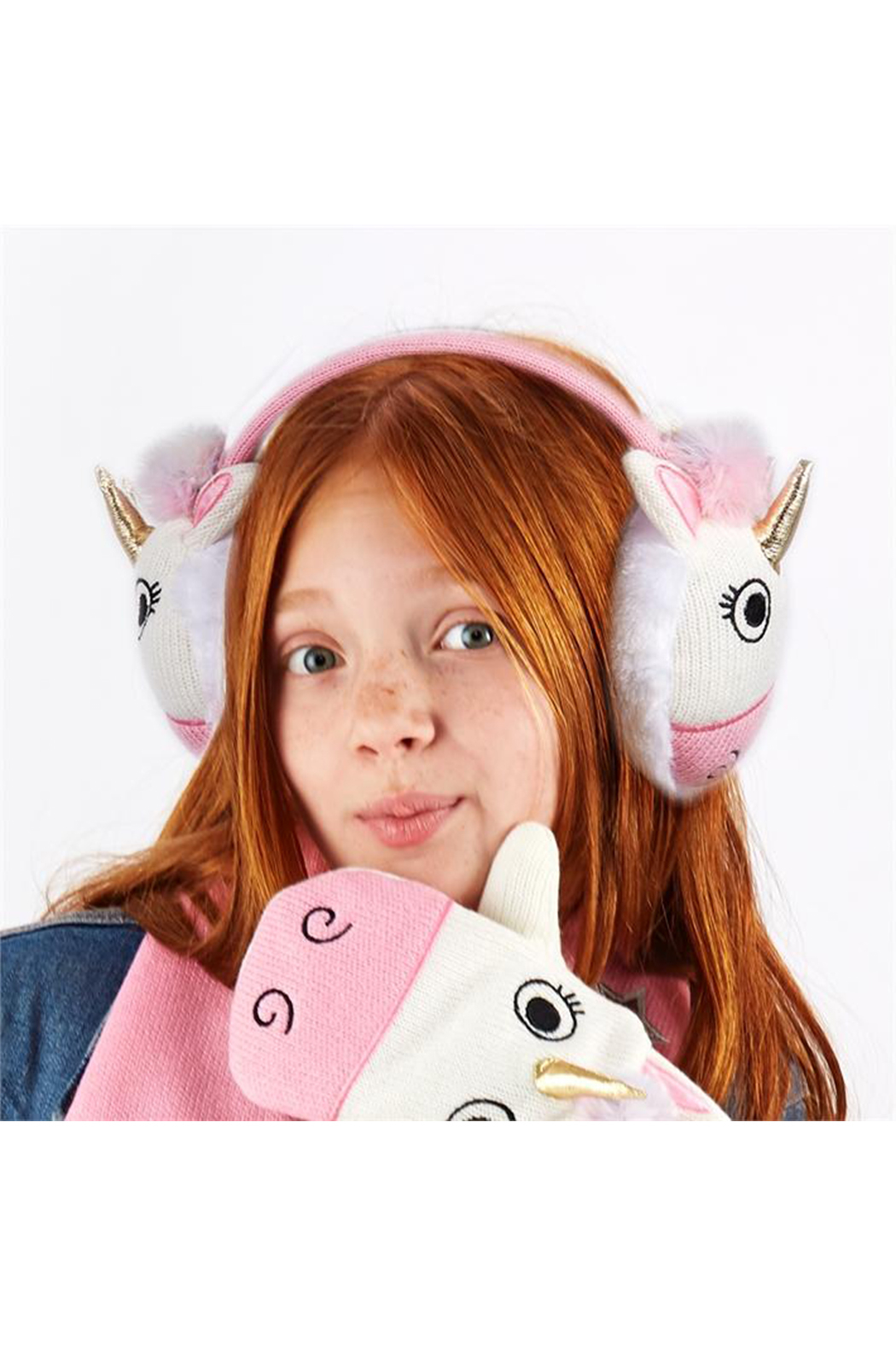 Cupcakes & Cartwheels Unicorn Earmuffs - Front Cropped Image