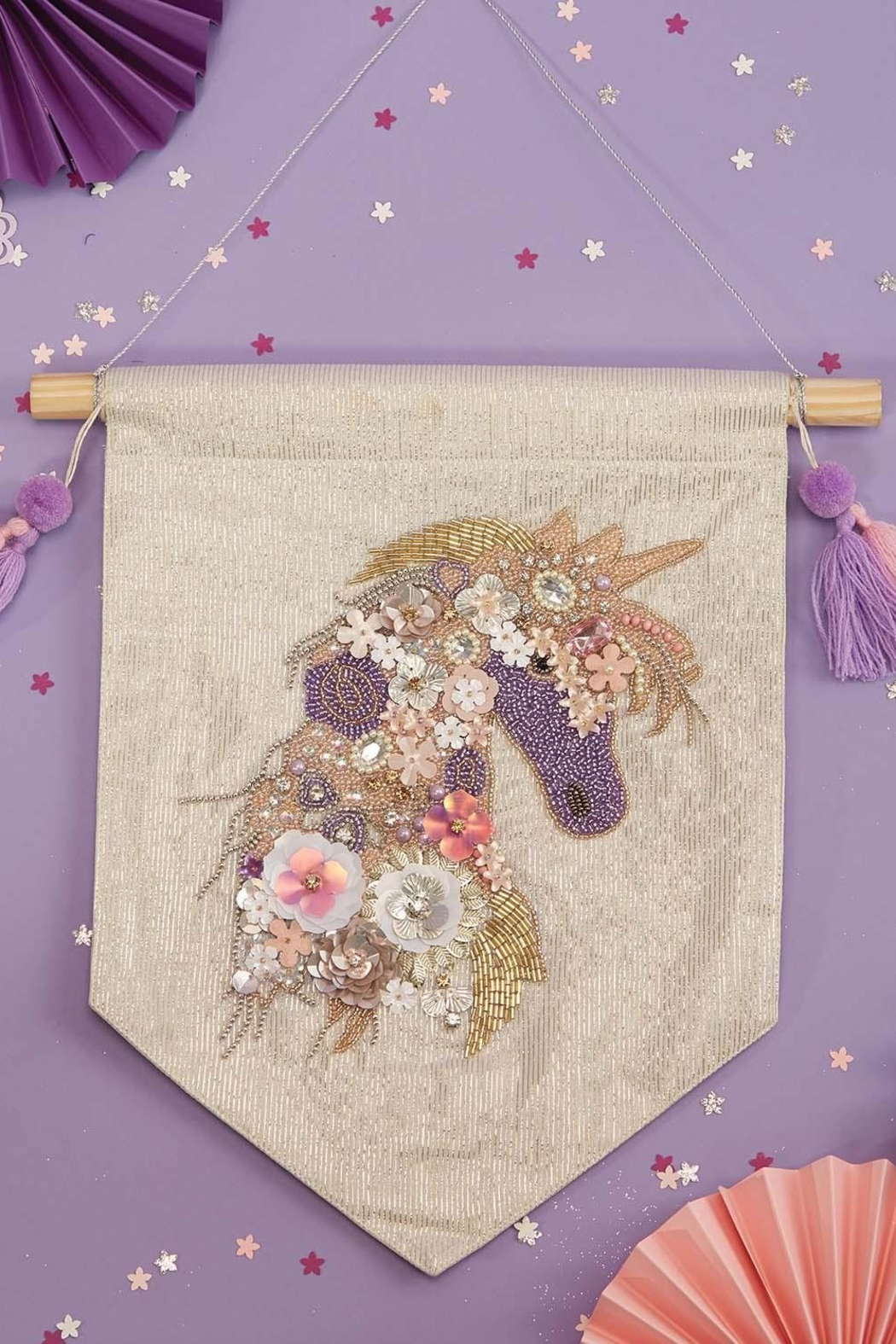The Birds Nest Unicorn Embellished Wall Decor - Main Image