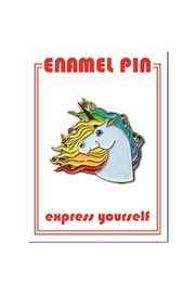 The Found Unicorn Enamel Pin - Front cropped