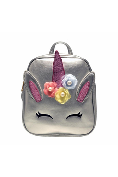 Doe a Dear Unicorn Foil Backpack With Flower Applique - Product List Image