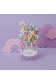 Cupcake and Cartwheels Unicorn Horn & Stars Mixed Berry Lollipop - Product Mini Image